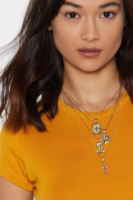 Nasty Gal Let It Layer Pendant Necklace