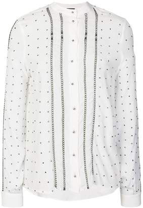 Just Cavalli studded embellished shirt
