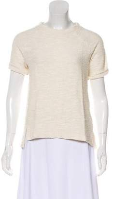 Anine Bing Knit Short Sleeve Top