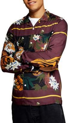 Topman Tiger Snake Print Shirt