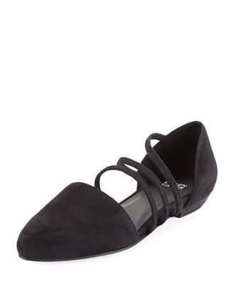 Eileen Fisher Dear Strappy Suede Ballet Flats