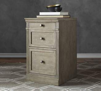 Pottery Barn Livingston Single 2 Drawer File Cabinet With Top