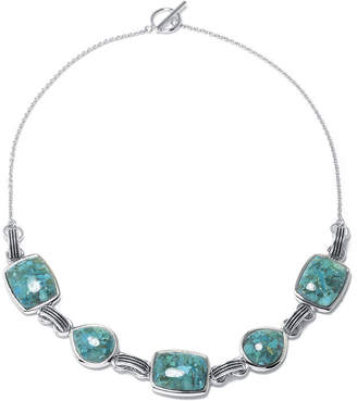 FINE JEWELRY Enhanced Turquoise Sterling Silver Necklace