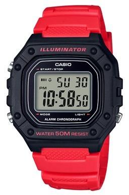 Casio Men's Large Case Digital Watch - W218H-4B