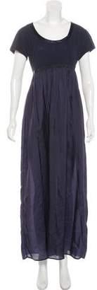 Sacai Luck Short Sleeve Maxi Dress