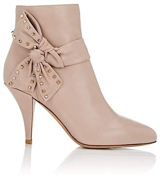 Valentino Women's Bow-Embellished Leather Ankle Boots