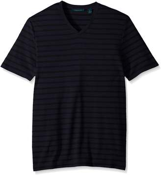 Perry Ellis Men's Jersey Heathered Stripe V-Neck T-Shirt