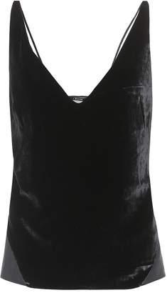 J Brand Lucy velvet camisole