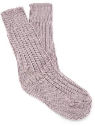 The Elder Statesman Yosemite Ribbed Cashmere Socks