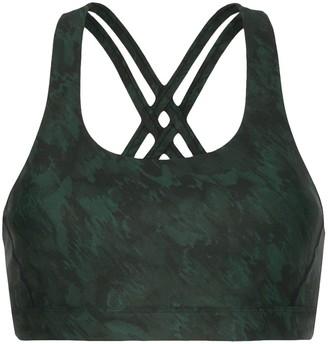 Nimble Activewear Double Tempo printed sports bra