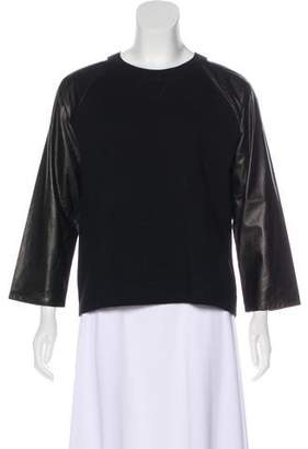 Reed Krakoff Leather-Accented Sweater