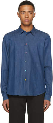 Paul Smith Blue Denim Cycle Stripe Shirt