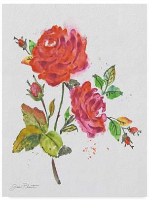 "Jean Plout 'Watercolor Flowers 8' Canvas Art - 18"" x 24"""
