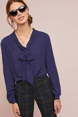 Cloth & Stone Neck-Tie Blouse