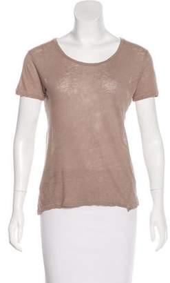 Jenni Kayne Linen-Blend Short Sleeve T-Shirt