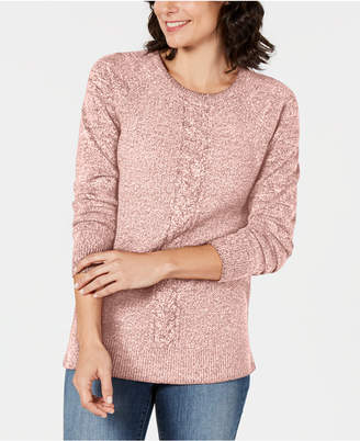 Karen Scott Petite Cable-Detail Sweater