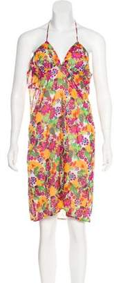 Christian Dior Floral Print Halter Dress