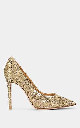 Gianvito Rossi Women's Lace & Leather Pumps - Gold