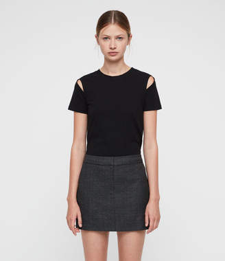 AllSaints Harriet Check Skirt