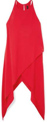 Gareth Pugh Asymmetric Crepe Top - Red