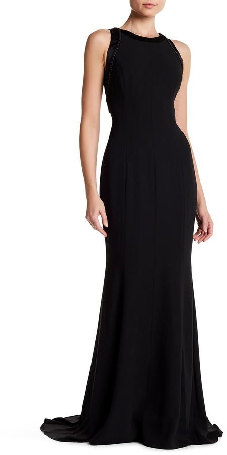 Carmen Marc ValvoCarmen Marc Valvo Embellished Sleeveless Gown