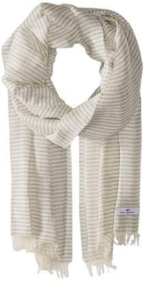 Love Quotes Linen Cotton Narrow Stripe Scarves