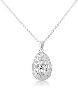 Auree Jewellery - Chelsea Egg Silver Necklace