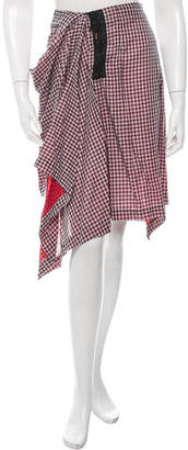 McQ by Alexander McQueen Gingham Knee-Length Skirt w/ Tags $75 thestylecure.com