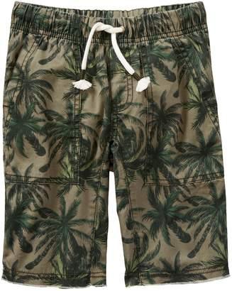 Crazy 8 Crazy8 Palm Tree Frayed Shorts