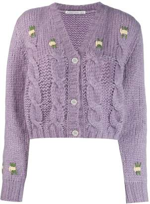 Alessandra Rich chunky knit cropped cardigan