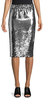 Mo&Co. EDITION10 Sequin Embellished Skirt