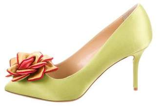 Charlotte Olympia Pointed-Toe Floral Pumps w/ Tags