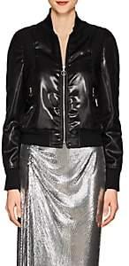 Paco Rabanne Women's Tech-Satin Bomber Jacket - Black