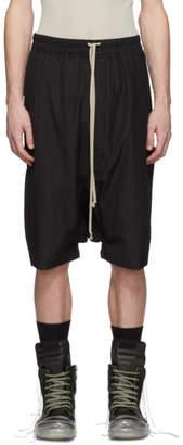 Rick Owens Black Striped Ricks Pods Shorts