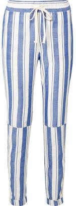 Lemlem Abel Patch Striped Cotton-blend Pants - Blue