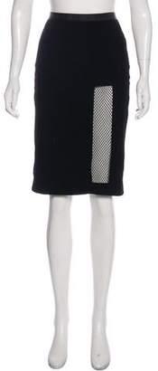 Jean Paul Gaultier Knee-Length Velvet Skirt