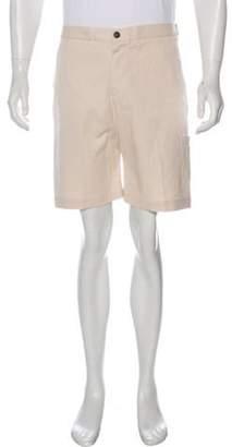 Barena Venezia Woven Flat Front Shorts beige Venezia Woven Flat Front Shorts