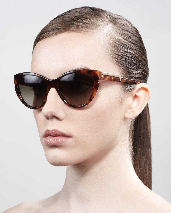 Stella McCartney Cat-Eye Sunglasses, Tortoise