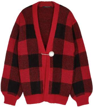 Mother of Pearl Blake Checked Chunky-knit Cardigan