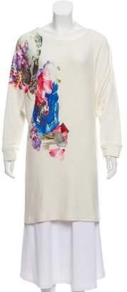 Tryb 212 Graphic Print Long Sleeve Dress w/ Tags