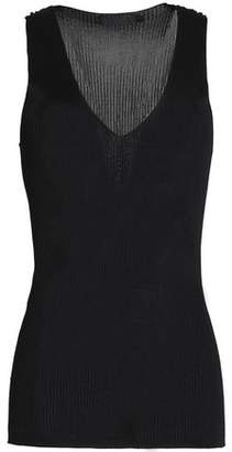 Calvin Klein Collection Ribbed-Knit Top