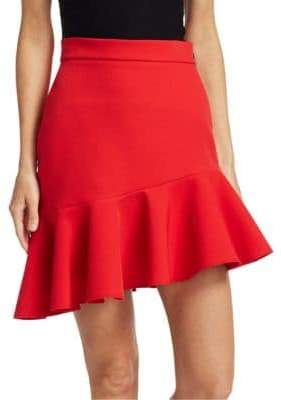 MSGM Asymmetric Ruffle Mini Skirt