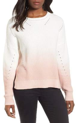 Caslon Shaker Stitch Cotton Sweater