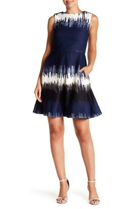 Taylor Tie Dye Print Fit & Flare Dress