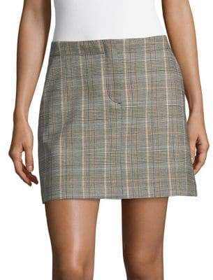 Theory Seamed Mini Skirt