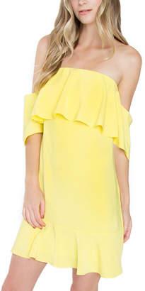 Sugar Lips Sugarlips Loving Lemons Off The Shoulder Dress