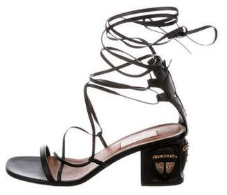 Valentino Leather Open-Toe Strap Sandals