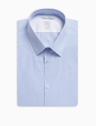 Calvin Klein Extra Slim Fit Stripe Temperature Regulation Dress Shirt