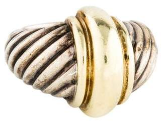 David Yurman Two-Tone Domed Cocktail Ring