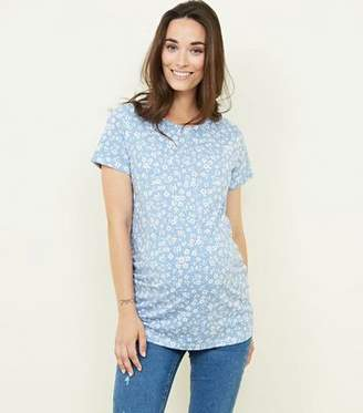 New Look Maternity Blue Ditsy Floral T-Shirt